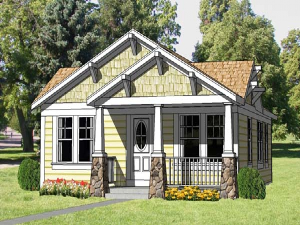 Affordable home plans craftsman style small craftsman for Affordable bungalow house plans
