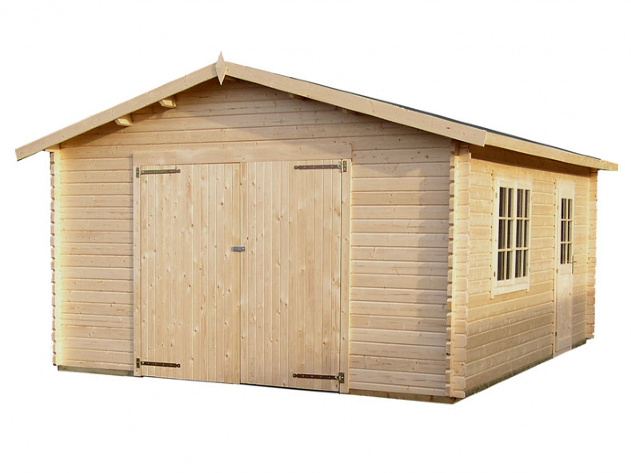 Log cabin with garage log home plans with garages log for Chalet house plans with garage