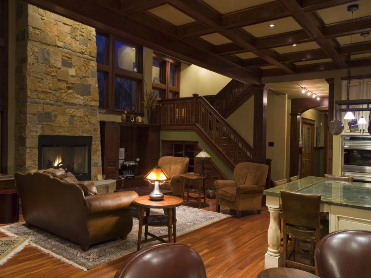 Open Ranch Style Floor Plans Modern Craftsman Style Home Interiors Single Story