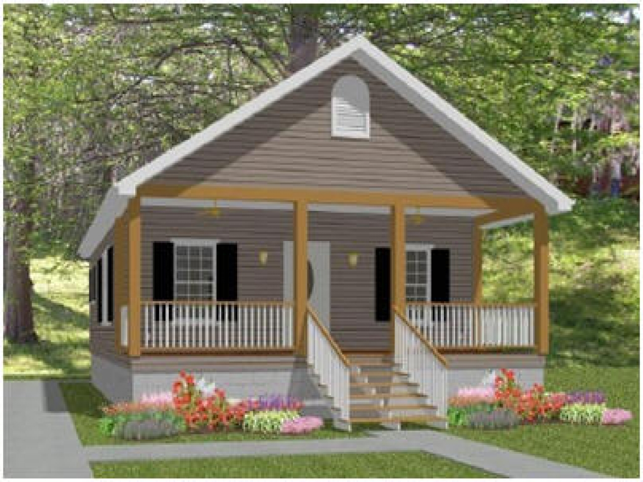 Small Home Designs: Small Cottage House Plans With Porches Small Country House