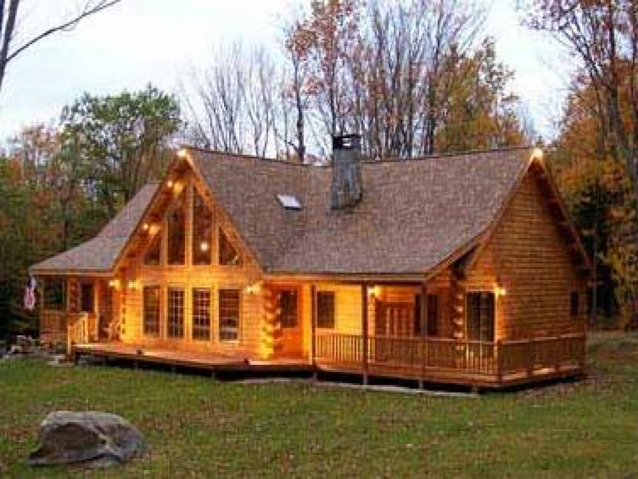 Cedar log home designs cedar cabins one story log cabins for Single story log cabin homes