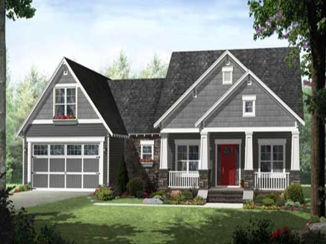 Craftsman style house plans open floor plans craftsman for Affordable craftsman house plans