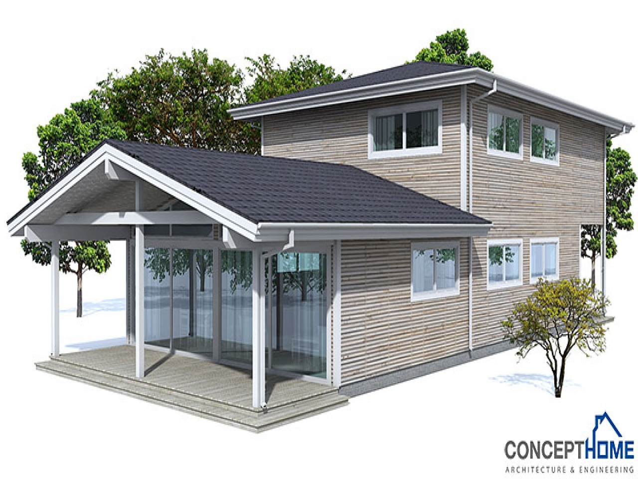 Traditional house plans contemporary house plans august for Modern house plan 2012