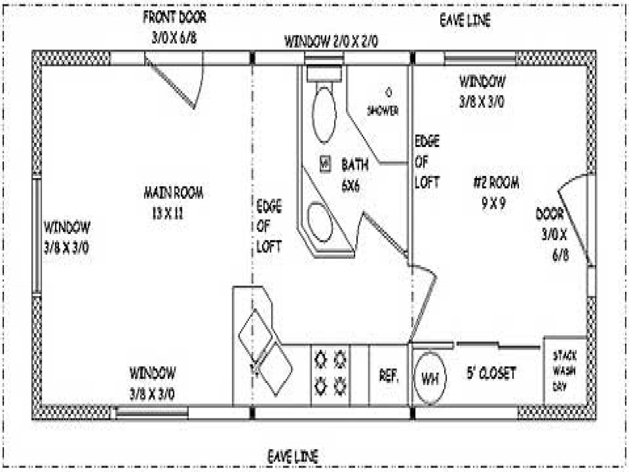 Small Guest House Designs 16x22 Small Guest House Plans