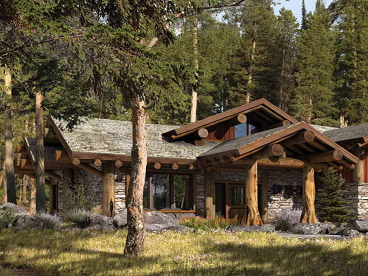 Rustic Mountain Homes Exterior Small Rustic Mountain Home ...