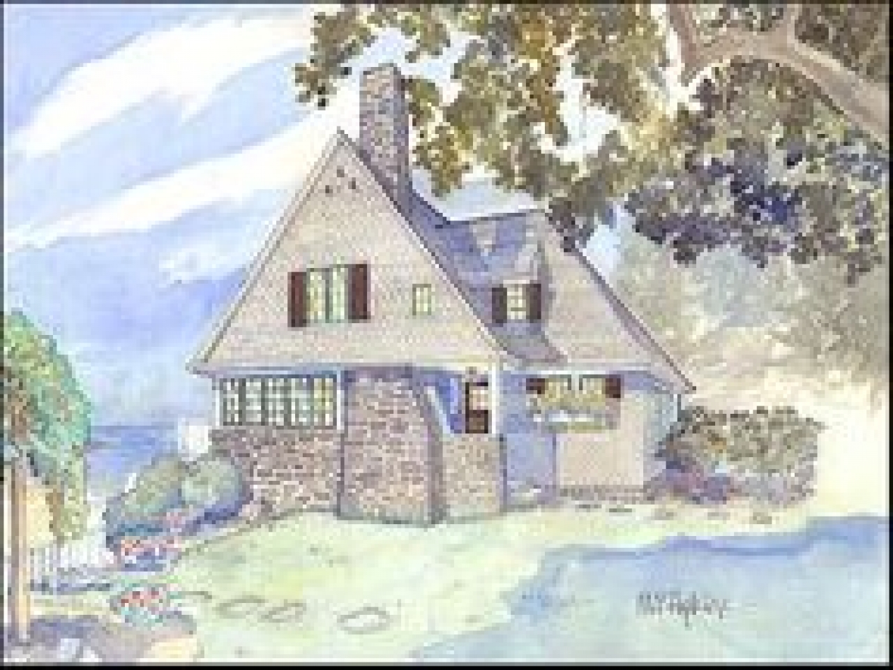 New England Style Cottage House Plan New England Cottage