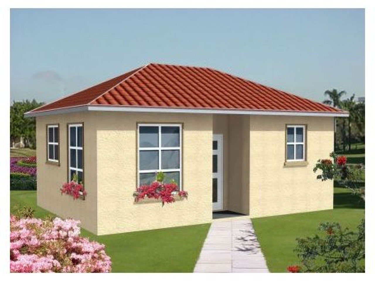 One bedroom home plans one bedroom cottage home plans One room house designs
