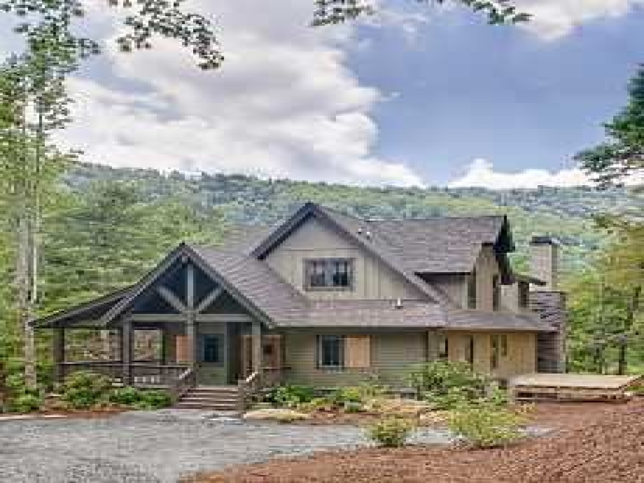 Smoky mountains cabins small mountain cabin house plans for Mountain chalet plans