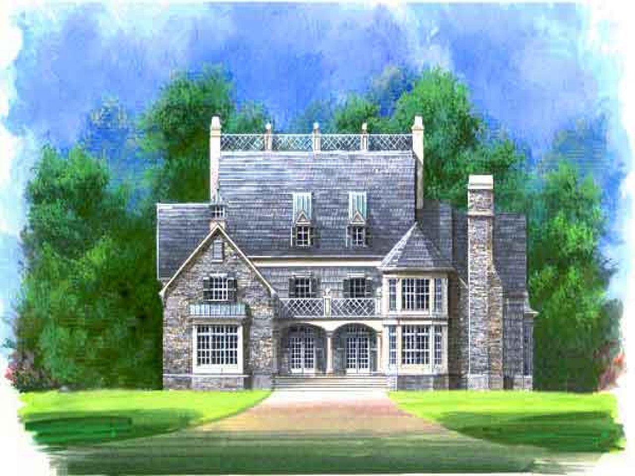 4 column colonial house plans luxury colonial house plan for Colonial house plans