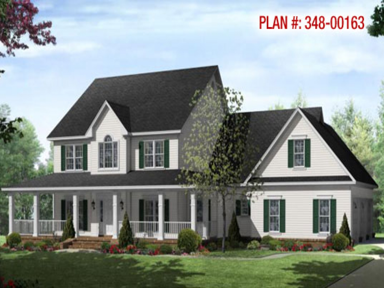 Small country farmhouse with wrap around porch hip roof for Small country house plans