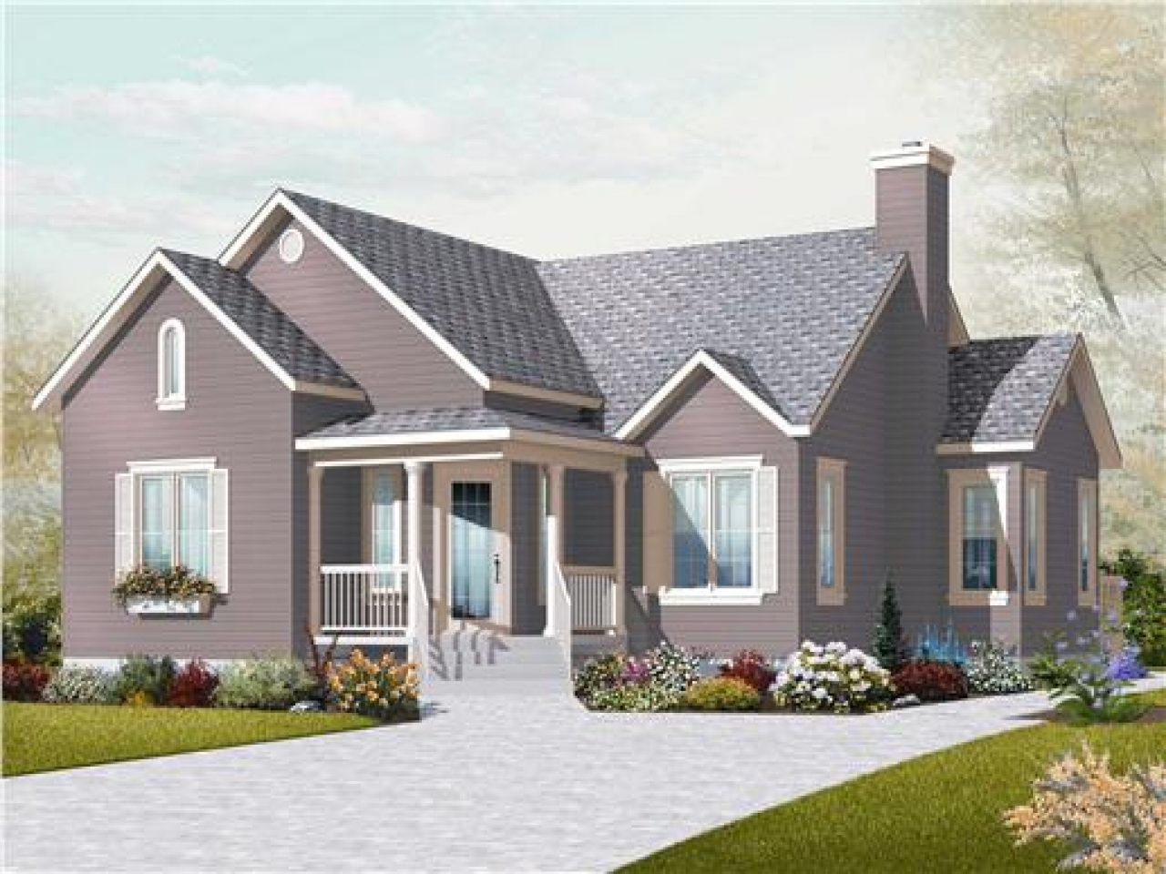 Small two bedroom house plans small country house plans for Small country home plans