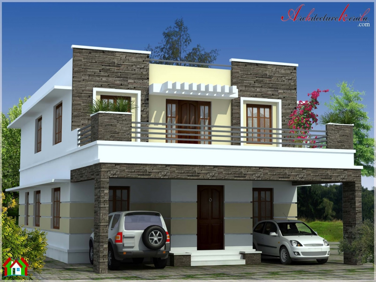 Modern contemporary house plans simple contemporary house for Simple modern house elevation