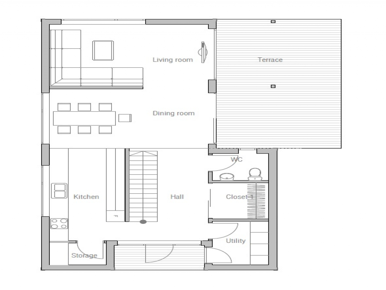Small affordable house plans small two bedroom house plans for Affordable house plans