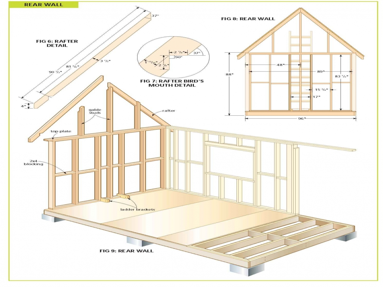 Wood storage shed plans free large firewood storage shed for Two storage house designs