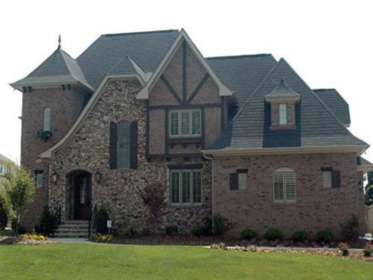 Stone and brick french country house plans brick and stone for Brick country house plans