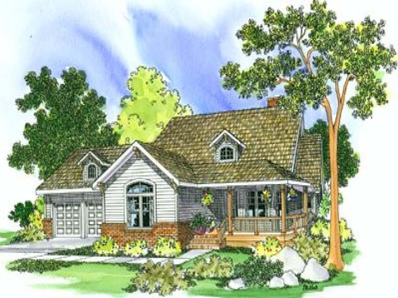 Old fashioned cottage house plans old fashioned cozy house for Old fashioned home plans
