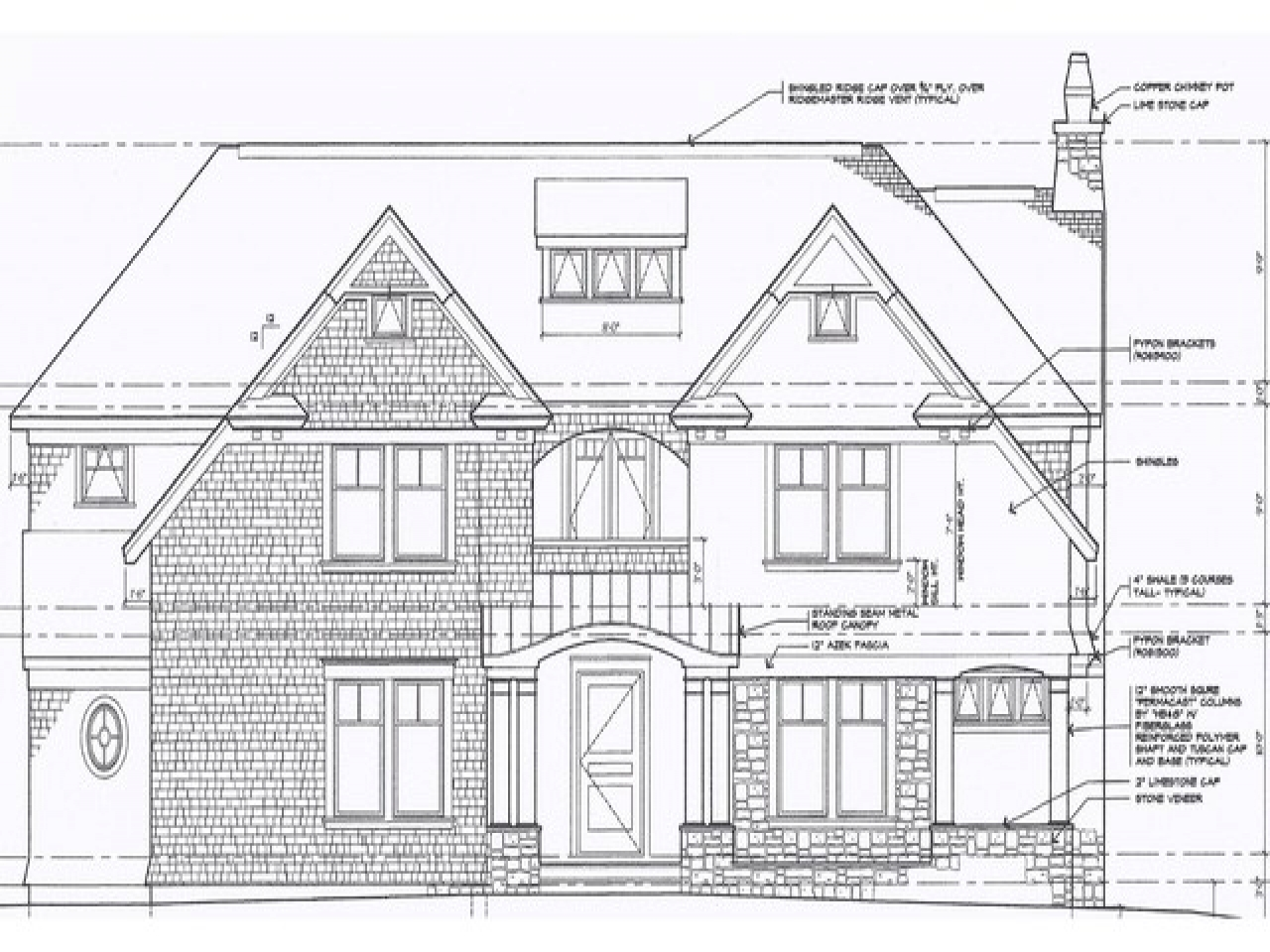 Architectural Exterior Elevation Drawings Front Elevation ...