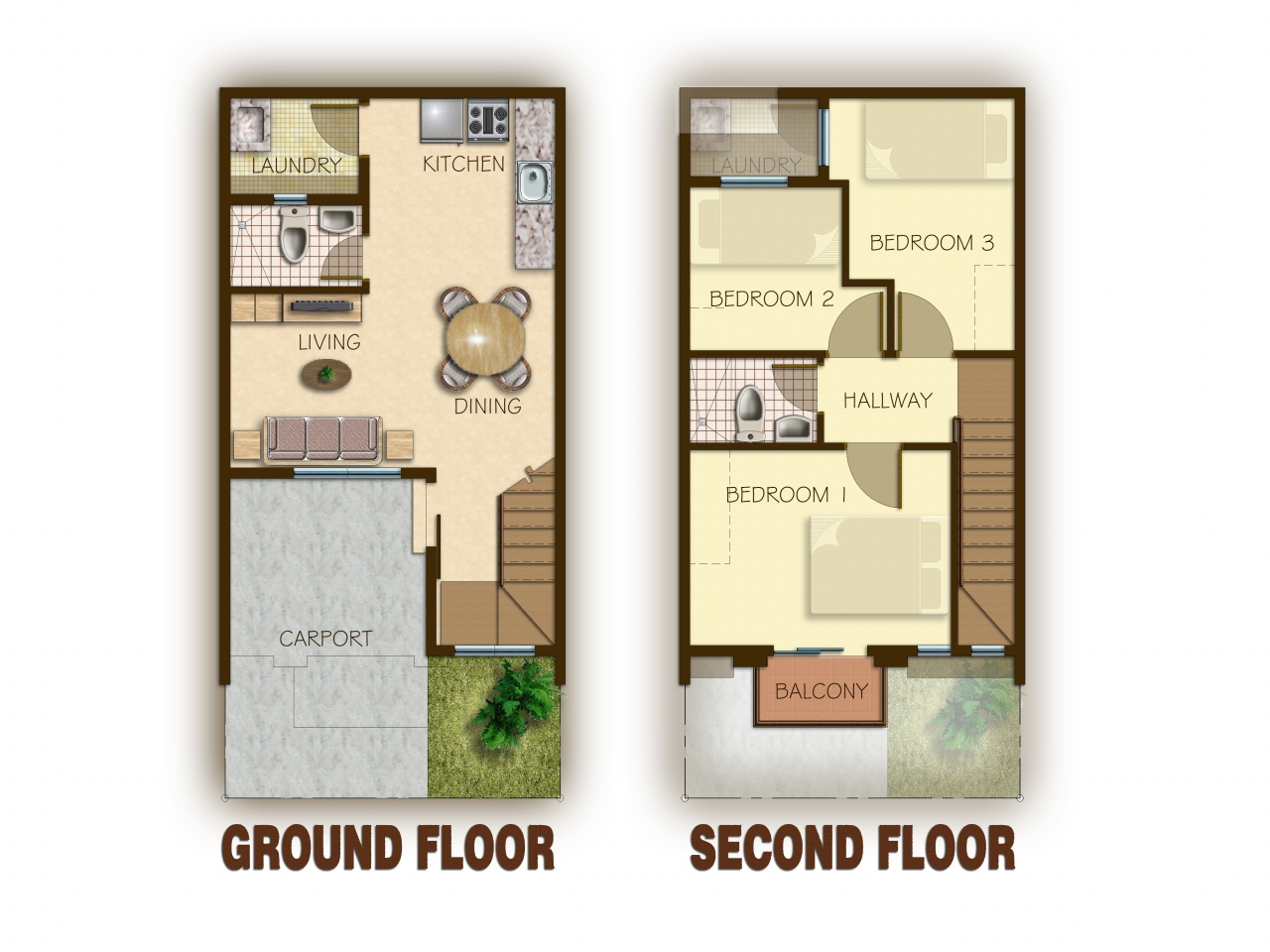 Townhouse floor plans with garage 3 story townhouse floor for Townhouse floor plans with garage