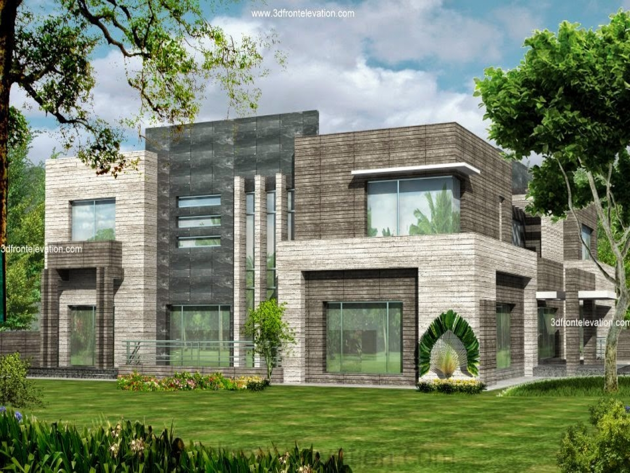 Modern Front Elevation Small House : Modern front house elevation designs dubai