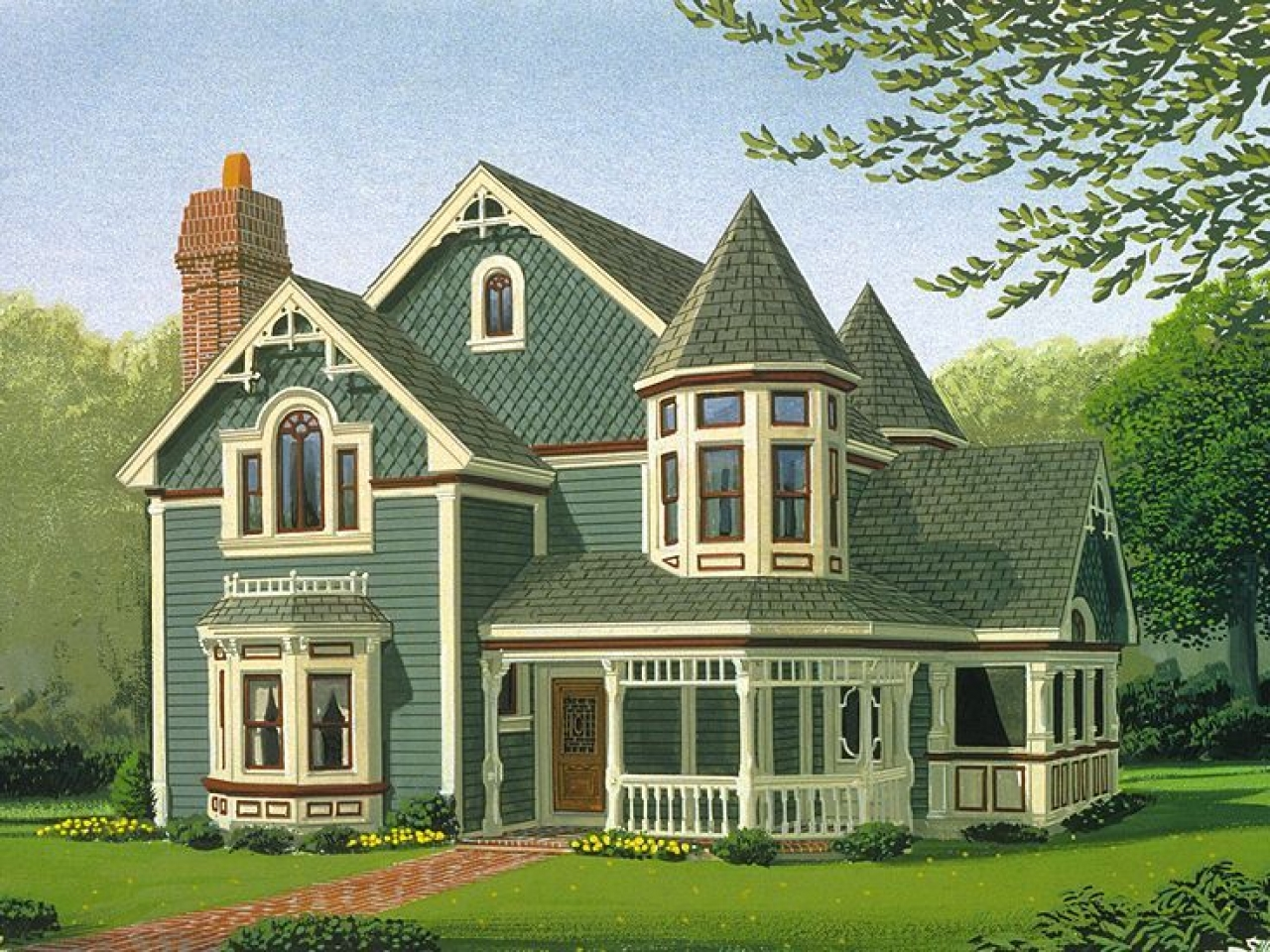 Victorian house plans authentic victorian house plans for Victorian birdhouse plans free