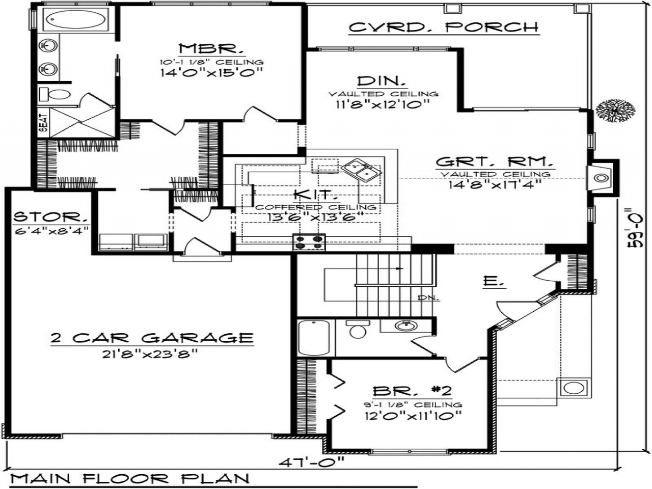 2 Bedroom Bungalow Floor Plans: 2 Bedroom Cottage House Plans 2 Bedroom House Plans With