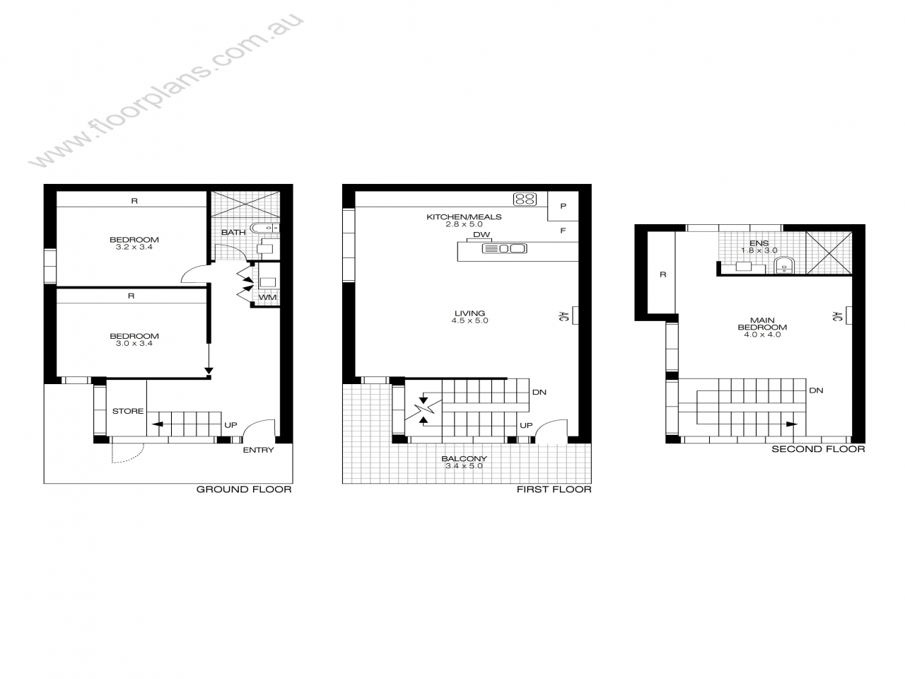 Floor plans with dimensions floorplan dimensions floor for Residential floor plans