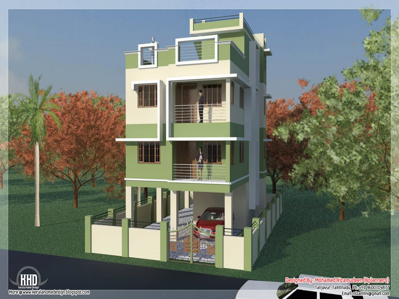South Indian House Designs Wooden Grill South Indian House