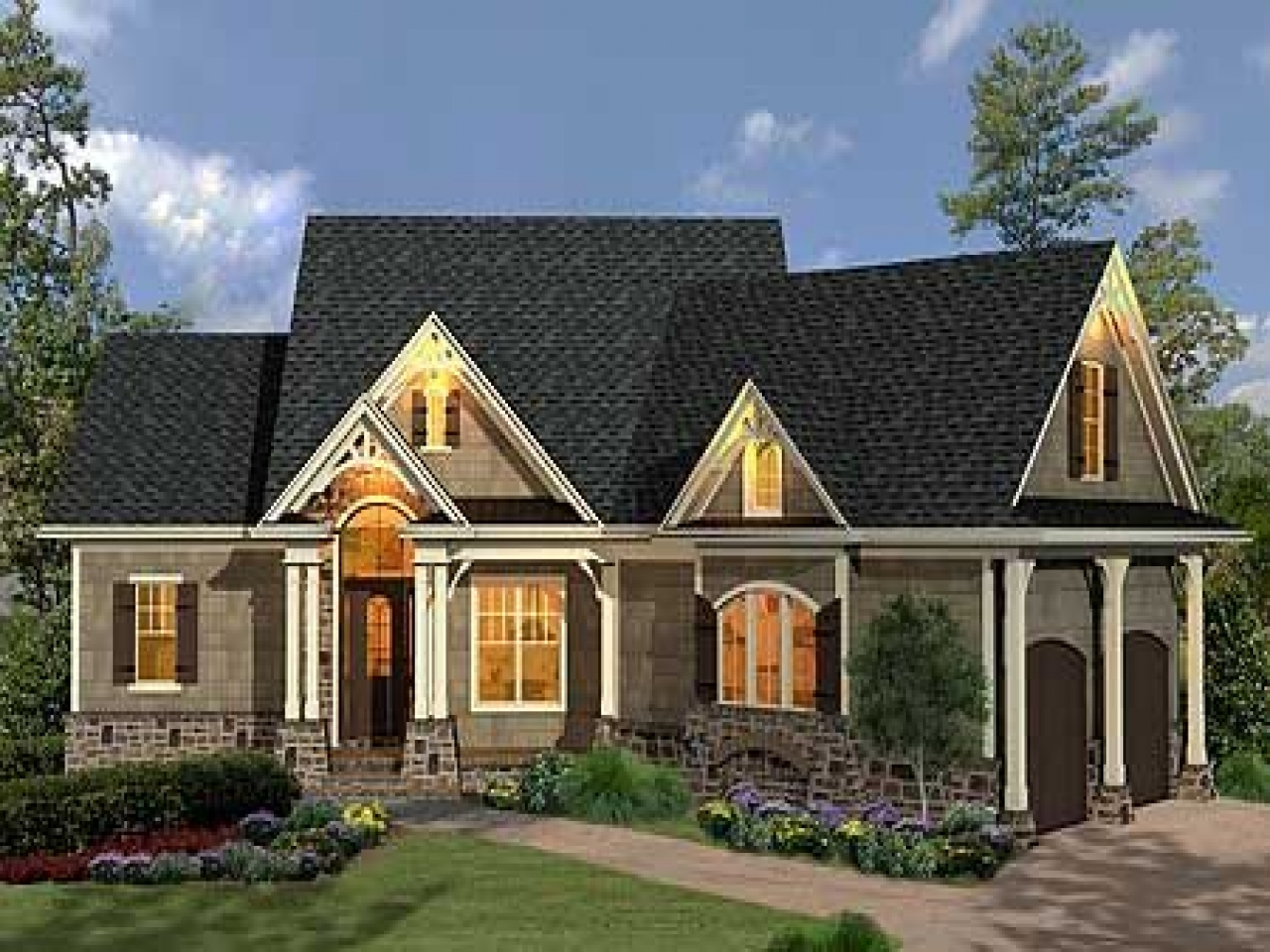 Craftsman style ranch house plans craftsman style homes for Ranch style home builders