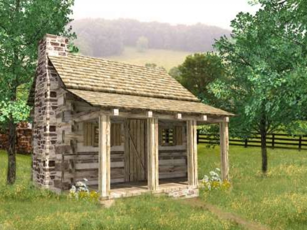 Small log cabin plans inside a small log cabins cabins for Small log house plans