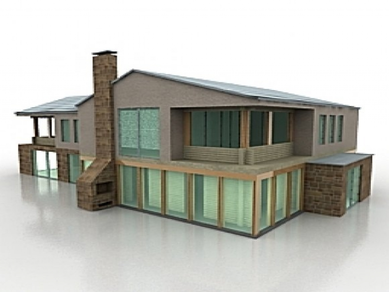 House Building 3d Model Scale Model Buildings Modern