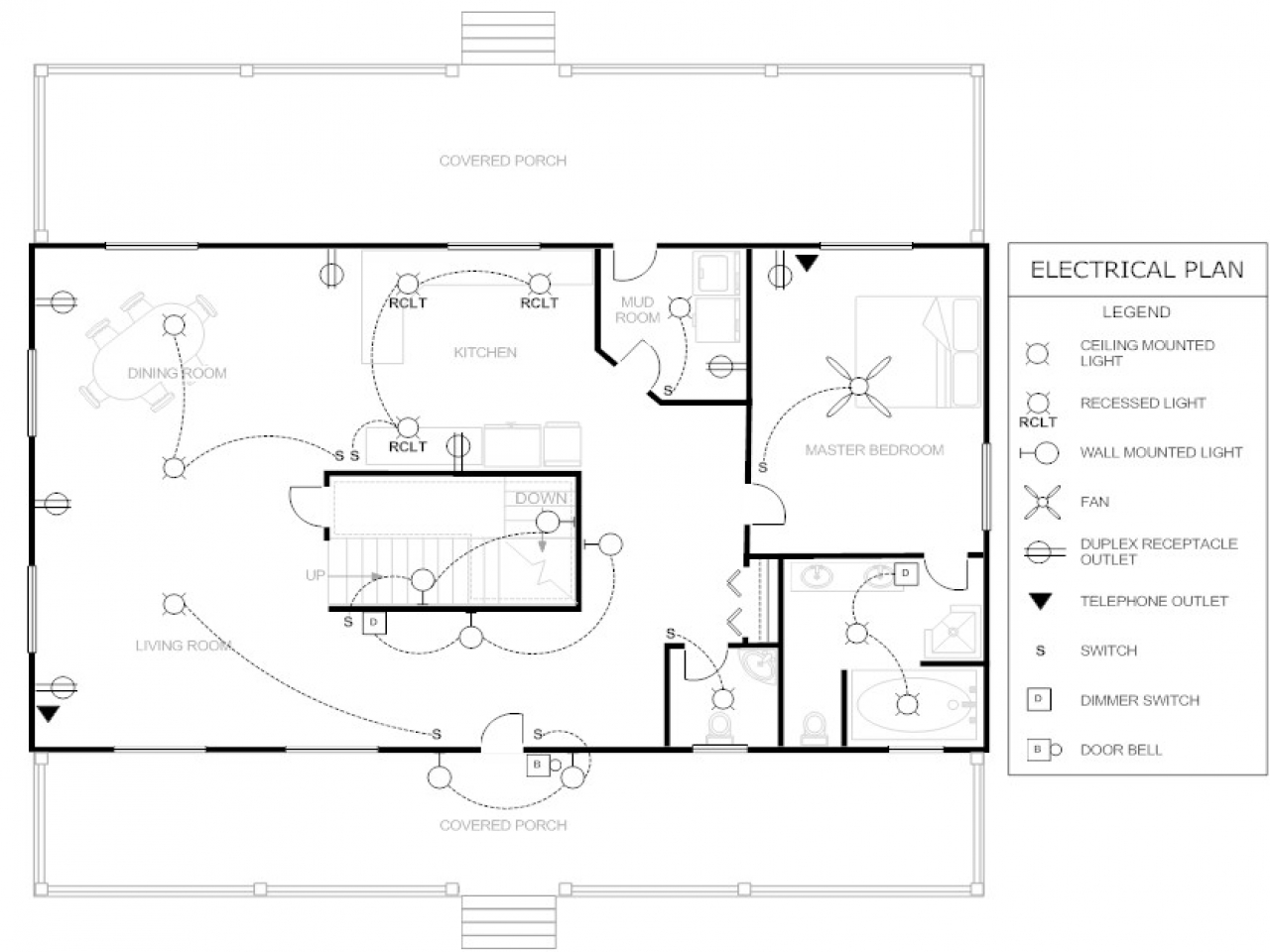 Electrical floor plan drawing simple floor plan electrical for Residential building plans dwg