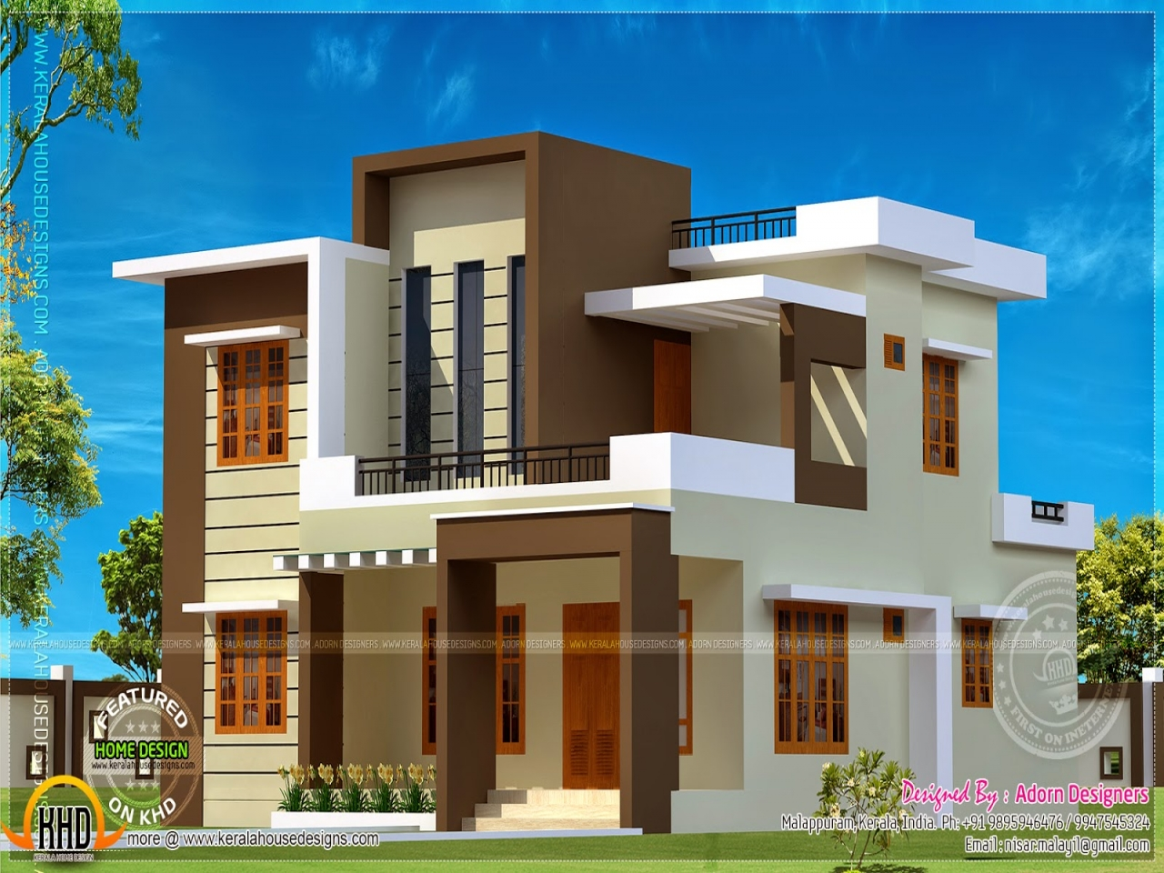 Contemporary Best Small Modern House Designs: Simple House Plans Flat Roof Flat Roof Modern House, Flat