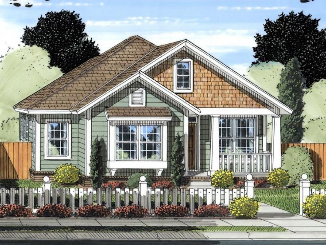 Vintage craftsman house plans craftsman cottage house for Craftsman small house plans