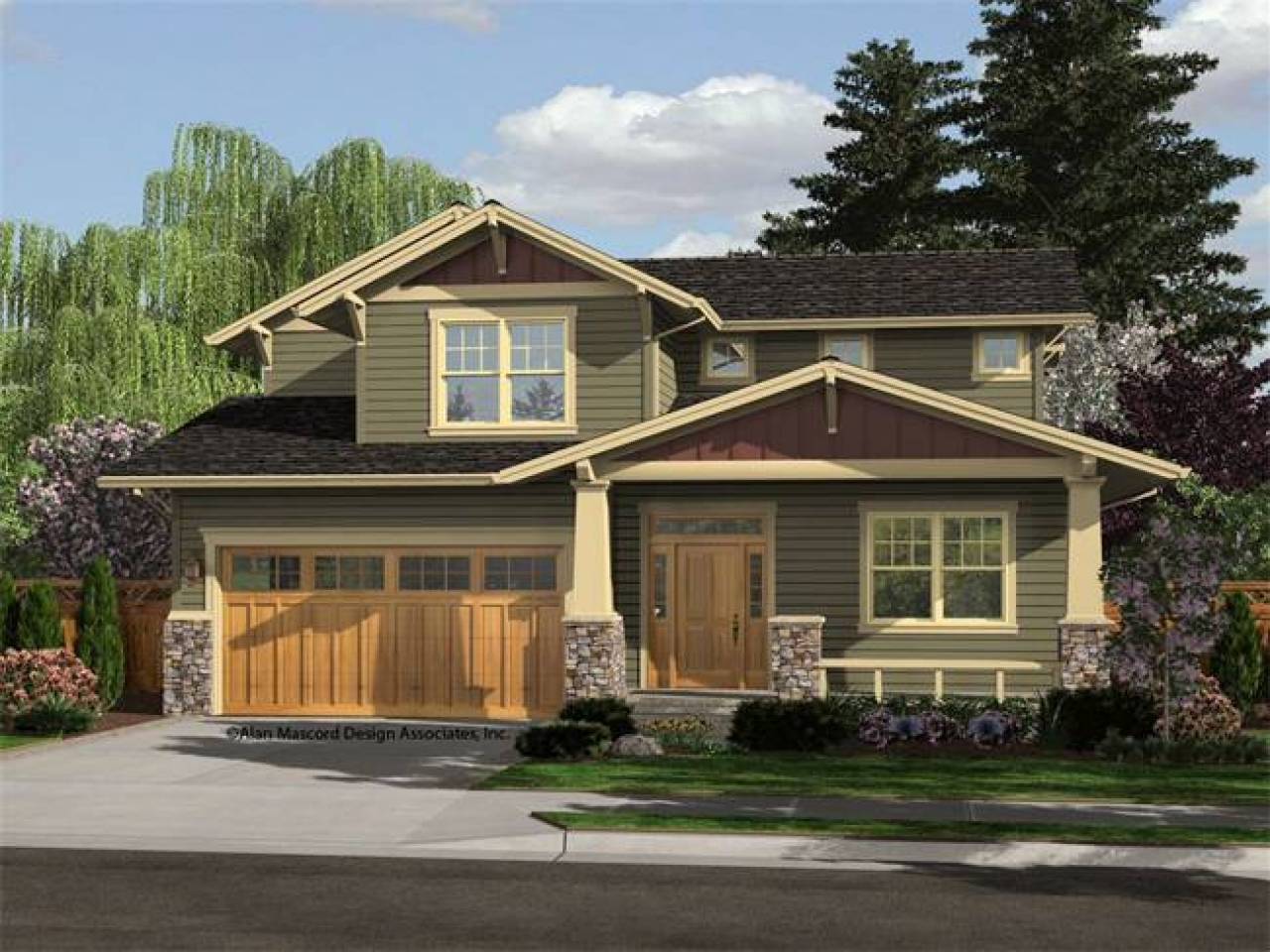 Craftsman house plans ranch style home style craftsman for Craftsman prairie style house plans