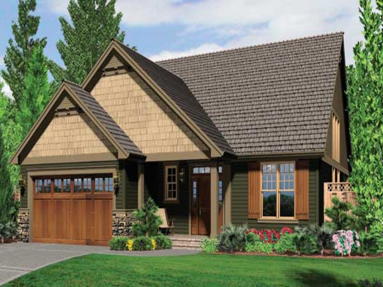 Craftsman style house shutters unique house shutters for Ranch home plans with cost to build