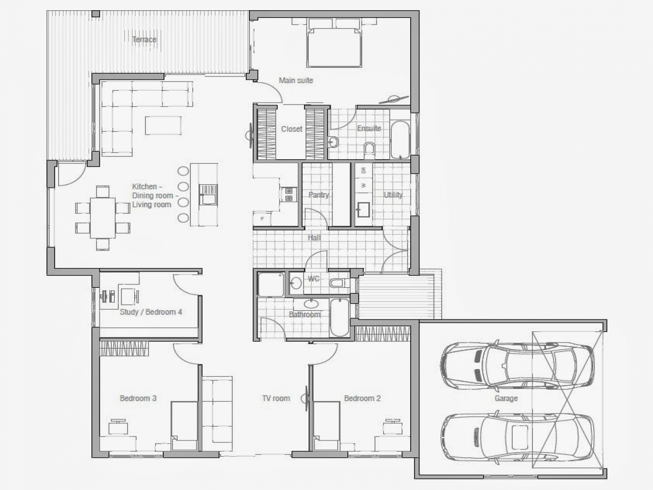 Affordable 3 bedroom house plans to build 3 small house for Affordable 5 bedroom house plans