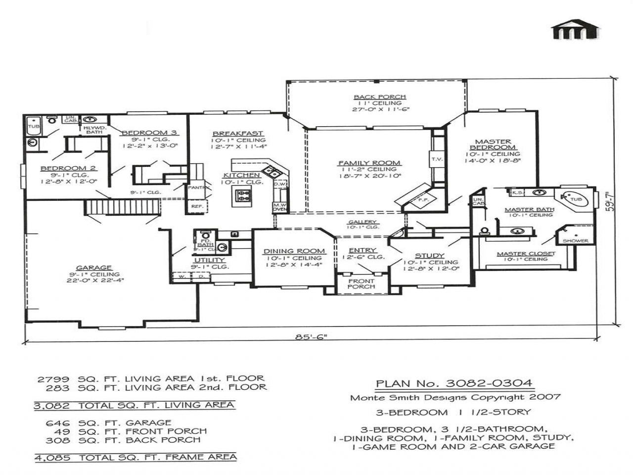3 bedroom 2 story home floor plans basement bedrooms for 2 story house plans with basement
