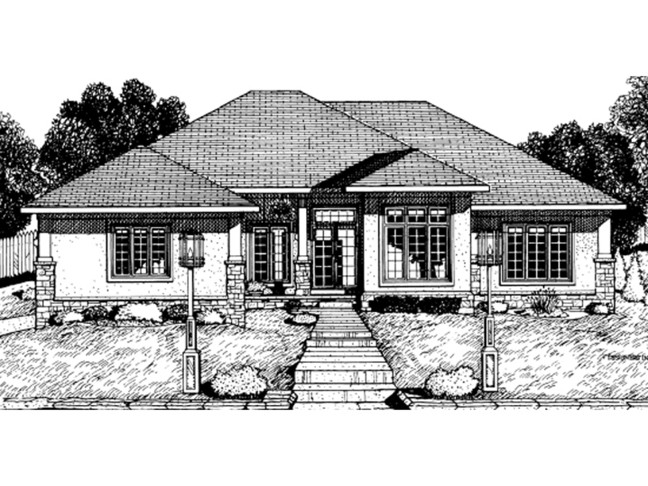 Beach cottage house plans seaside sunbelt home plan 026d for Sunbelt homes