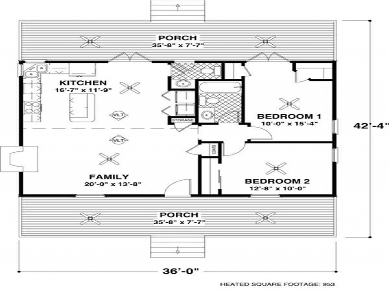 Best small open floor plans small house with open floor for Lay out house floor plans