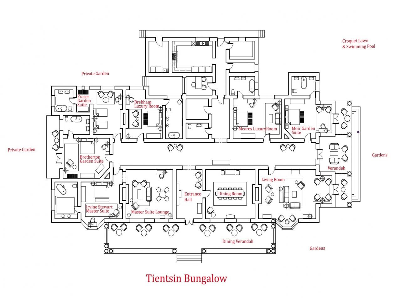 Craftsman bungalow house plans bungalow floor plan luxury for Craftsman cottage floor plans