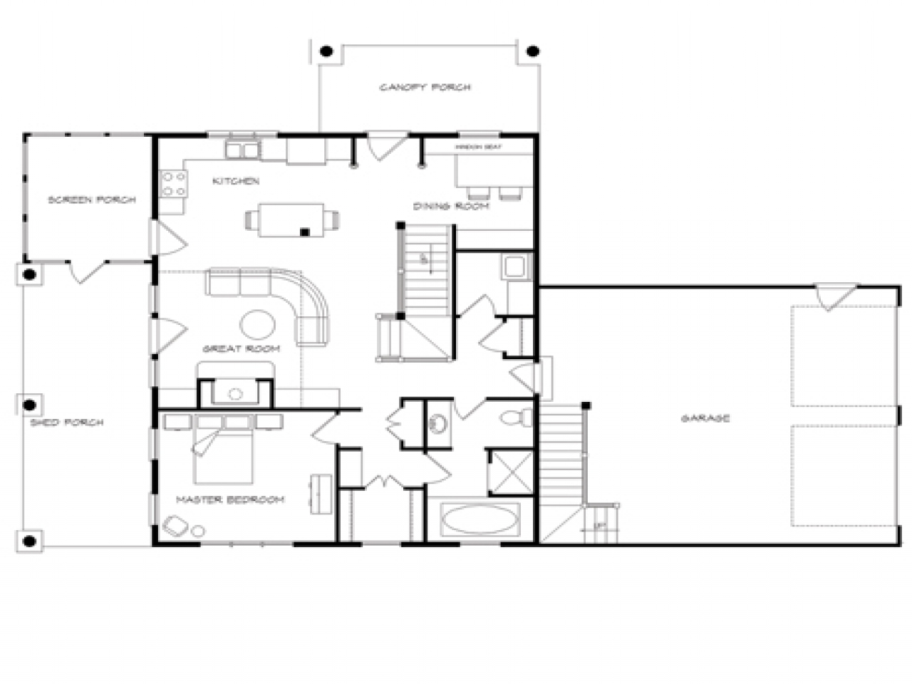 Log home plans with open floor plans log home plans with for Wrap around porch floor plans