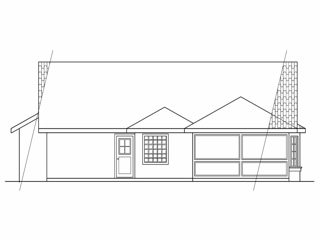 Atomic Ranch Elevation House Plan : Rear ranch house elevations country home