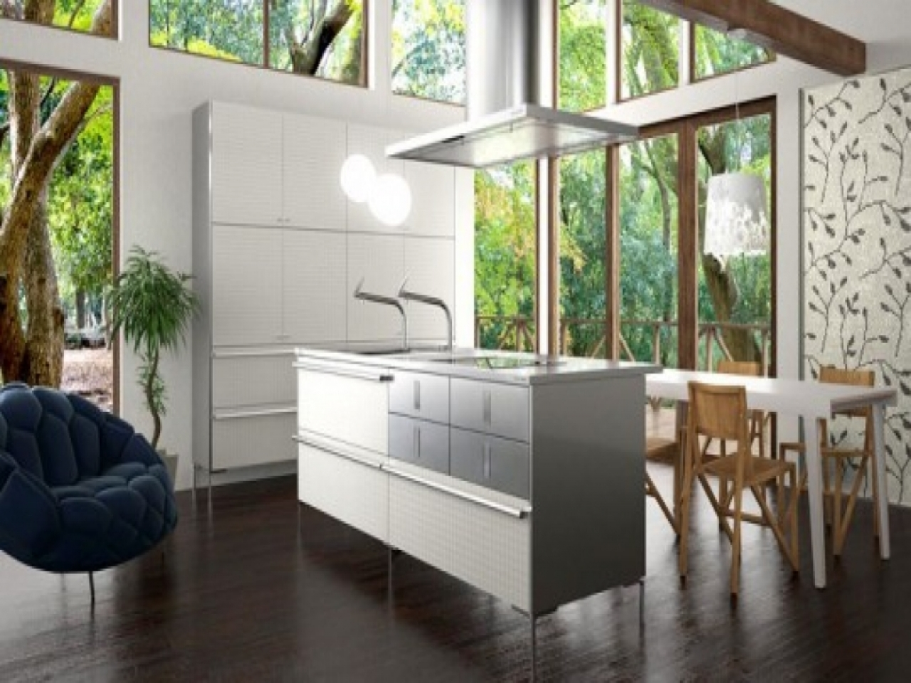 Japanese traditional design kitchen modern japanese for Japanese traditional kitchen design