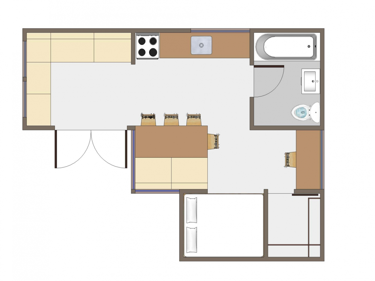 Tiny house floor plans tiny victorian house plans small for 16 x 50 floor plans