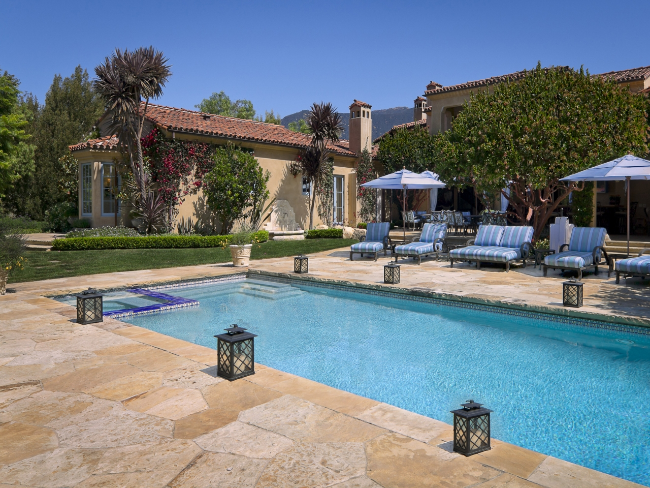 Anb Homes Mediterranean Pool With Back Yard Mediterranean