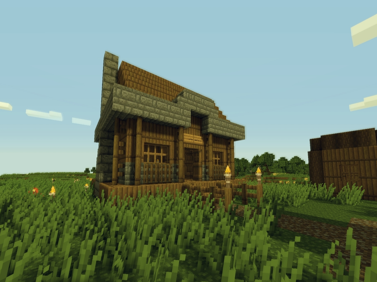 Medieval minecraft house designs minecraft village house for Village home designs