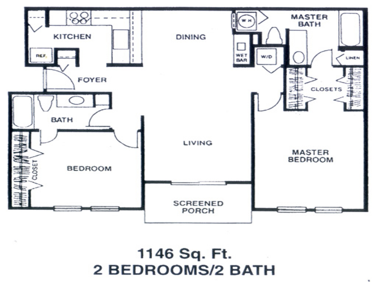 Apartment floor plans ranch style single story apartment for One story apartments