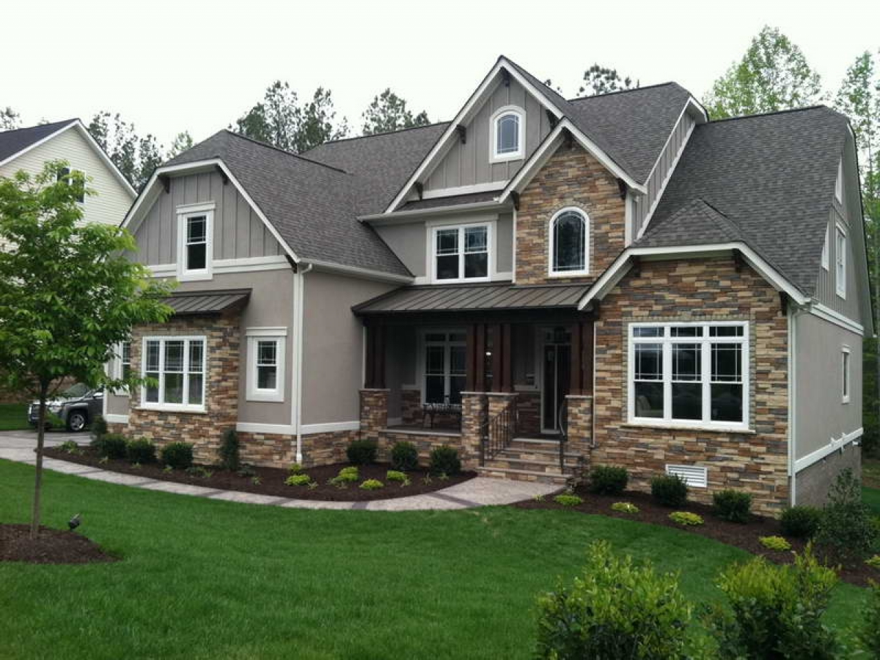 Craftsman home exterior siding ideas craftsman house for House siding colors ideas