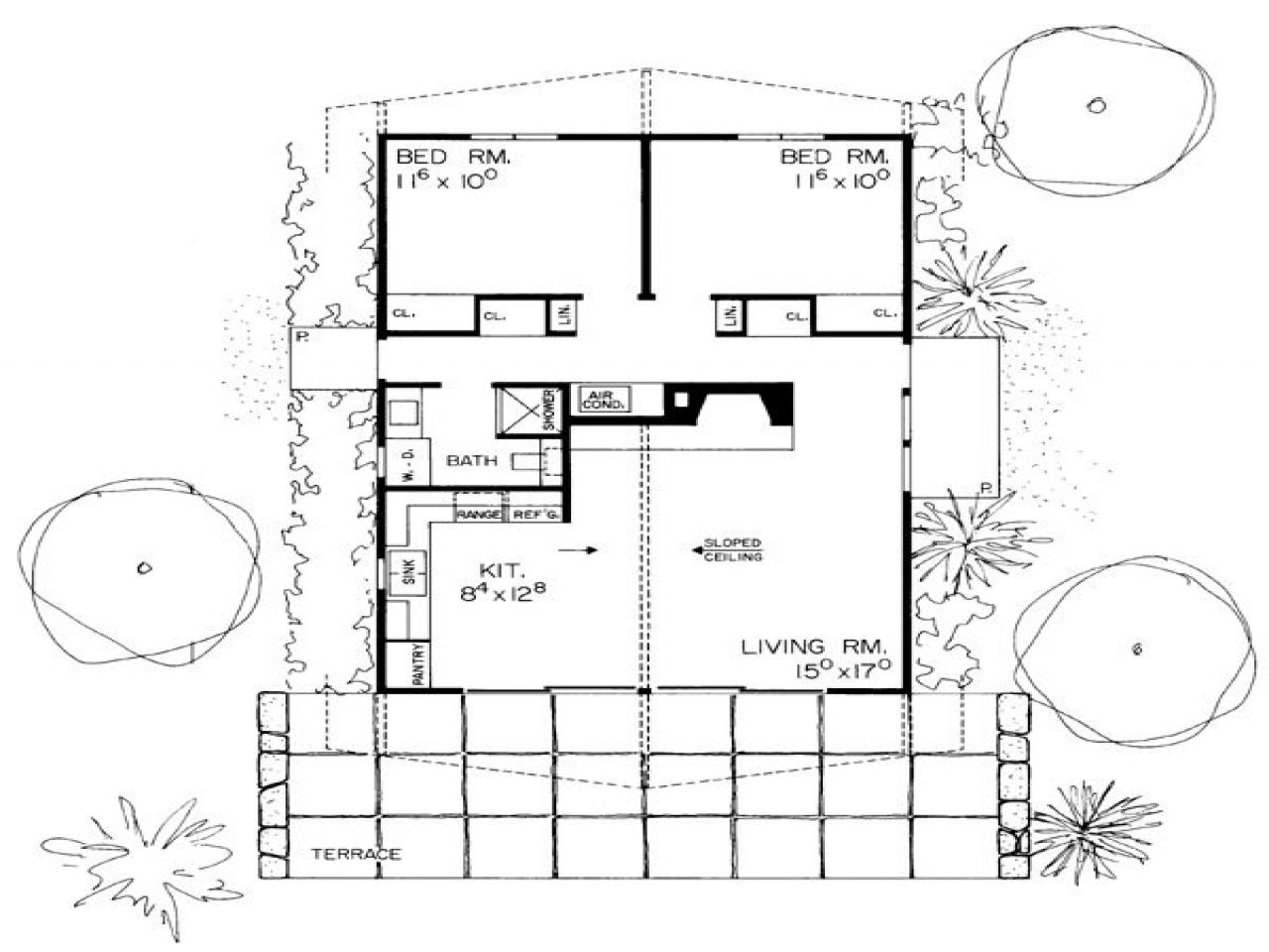 Contemporary house plans retro contemporary house plan for Retro modern house plans