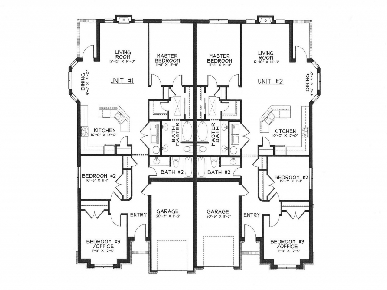 modern duplex house plans duplex house designs floor plans lrg 943be5d7df24918b - 30+ Modern Small Duplex House Plans  Pictures